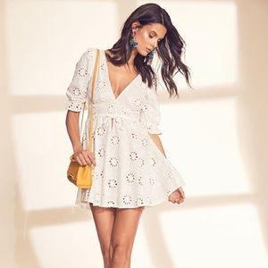 eee2f9edb1 For Love And Lemons Dresses - For Love   Lemons x Revolve Eyelet Dress in  White